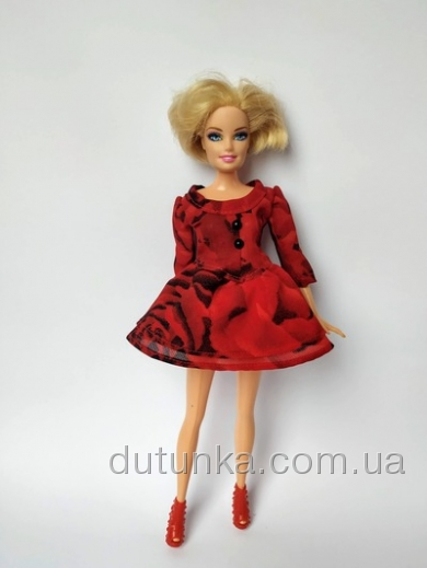 Червона сукня для ляльки Барбі Полум´я Dutunka