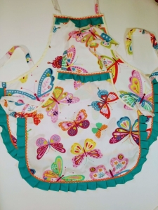 Набір фартухів: мама+дочка Метелики Dutunka