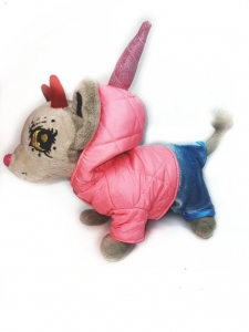 Куртка для собачки дівчинки Chi Chi Love Єдиноріг Dutunka