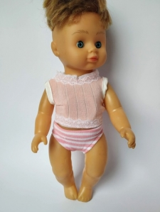 Комплект белья для куколки 28 см Цветной  (цвета в ассортименте) (К28-75) Dutunka