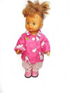 Плащ для лялечки Рожевий заєць Dutunka