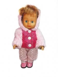 Рожева зимова куртка для ляльки 28 см Dutunka