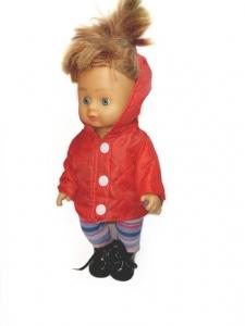 Курточка для лялечки червона Dutunka