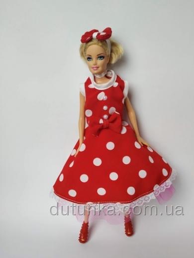 Плаття для ляльки Барбі Горошки   Dutunka