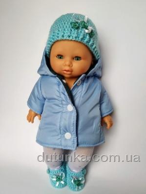 Тепла куртка для пупса 32 см Ніжна Dutunka