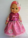 Сукня для ляльки пупса 32 см Рожева фея Dutunka