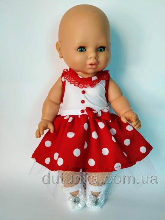 Літнє плаття для пупса 32 см Горошки Dutunka