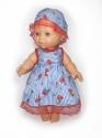 Літнє плаття з капелюшком для ляльки 32 см Dutunka