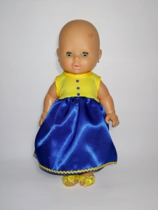 Сукня для пупса 30-32 см Україночка   Dutunka