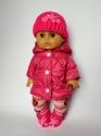Тепла курточка для пупса 35 см Рожева Dutunka