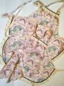 Набір фартухів для мами і доньки Рожеві єдиноріжки Dutunka