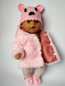 Екошубка для пупса дівчинки бебі Борн Рожева мрія Dutunka