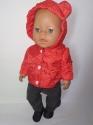 Куртка для пупса Baby born Ведмедик  (червона, синя) Dutunka