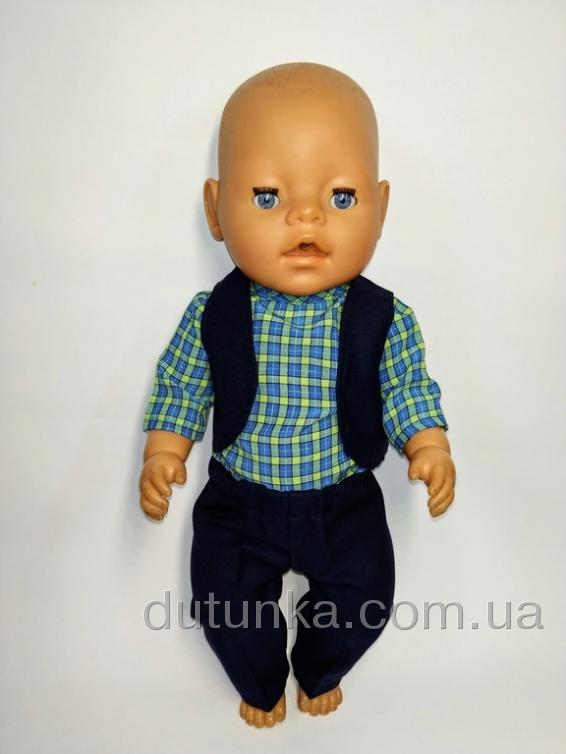 Брючний комплект з жилетом для пупса Baby Born  Dutunka