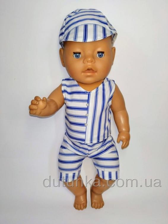 Літній костюмчик для пупса Бебі Борн Полосатик (немає) Dutunka