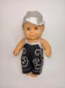 Джинсовий комбінезон з кепкою для пупса Паола Рейна (вибір кольорів) Dutunka