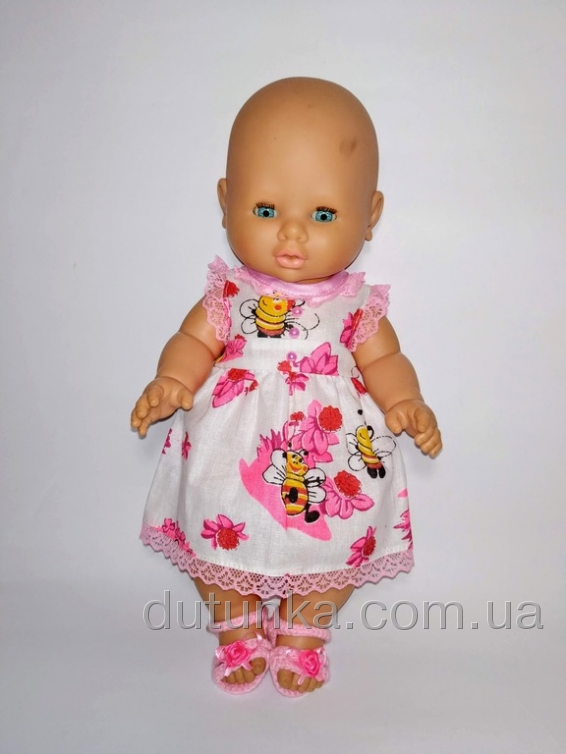 Літня сукня для пупса 32 см Яскраве літо    Dutunka