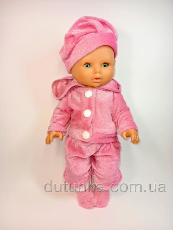 Костюм для ляльки дівчинки 32 см Рожевий   Dutunka