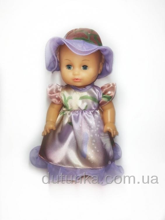 Плаття з шляпкою  для пупса 35 см Фіолетове Літо   Dutunka