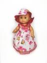 Літнє плаття з панамкою для пупса 35 см  (кольори) Dutunka