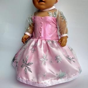 Розовое бальное платье для пупса-девочки Беби борн   Dutunka