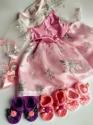 Рожеве бальне  плаття для ляльки дівчинки Бебі борн   Dutunka