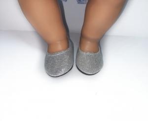 Туфлі для Бебі борн (рожеві та срібні) Dutunka