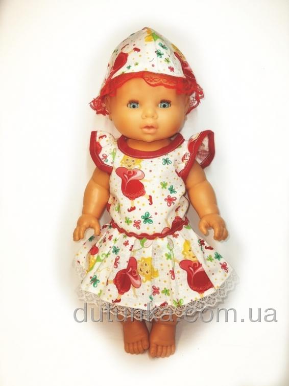 Плаття з панамкою для ляльки 32 см Dutunka