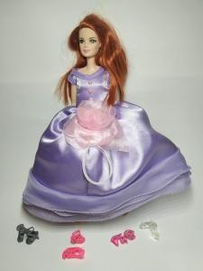 Ексклюзивне плаття  для ляльки Барбі Фіолетова троянда   Dutunka