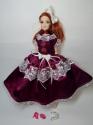 Плаття комбіноване для ляльки Барбі Вайолет  Dutunka