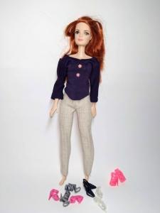 Комплект брючний для ляльки Барбі Ультрафіолет Dutunka