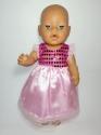 Нарядне плаття дляBaby Born Рожеве  Dutunka