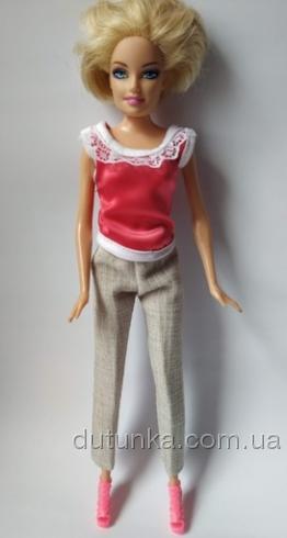 Комплект одягу з бриджами для ляльки Барбі Яскравий сплеск Dutunka