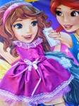 Нарядное платье для пупса-девочки Беби Бон Ультрафиолет (ББ738) Dutunka