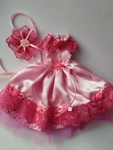 Сукня для ляльки Барбі Бал.Рожева Dutunka