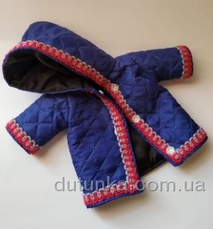 Курточка для пупса зростанням 35 см Синя Dutunka