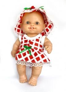 Сукня з панамкою для пупса Паола Рейна Червона Шапочка Dutunka