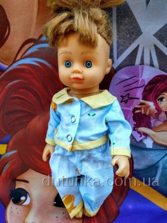 Піжама для лялечки 28 см Блакитна Dutunka