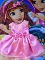 Сукня літня з повязочкою для пупса Бебі Бон Рожева мрія Dutunka