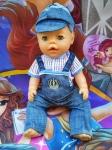 Комплект  с джинсовым комбнезоном для пупса Беби борн  (ББ606) Dutunka