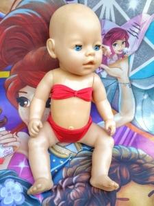 Кукольный раздельный купальник для пупса Беби борн  (ББ896)   Dutunka
