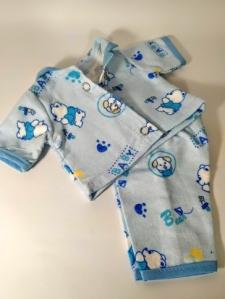 Лялькова піжама Мішки. Блакитна Dutunka