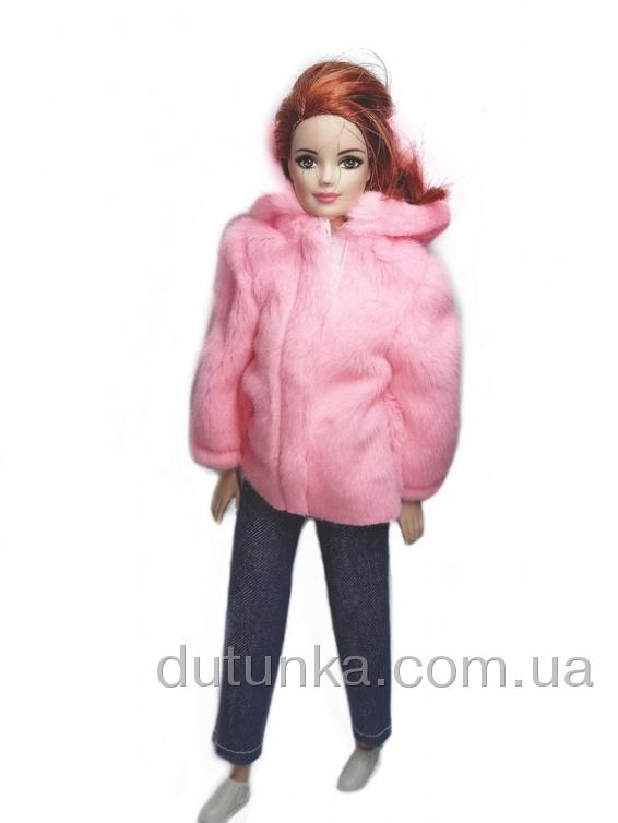 Экошубка з капюшоном для Барбі Рожева    Dutunka