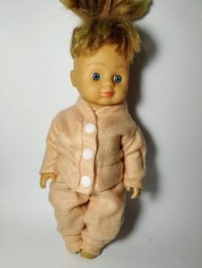 Теплий костюм для ляльки-дівчинки зростом 28 см Персик (немає) Dutunka