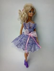 Ошатне плаття для ляльки Барбі Бузкова фантазія Dutunka