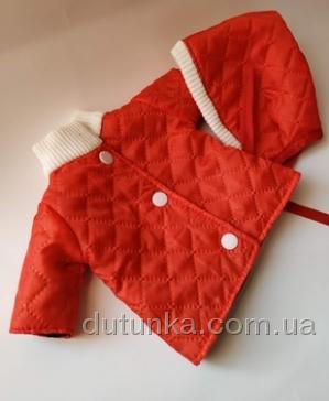 Курточка з шапкою для пупса-дівчинки Червона шапочка Dutunka