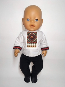 Український одяг для хлопчика Бебі борн  Dutunka