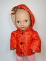 Куртка  для пупса дівчинки зростом 38 см Пламя (вибір моделей) Dutunka