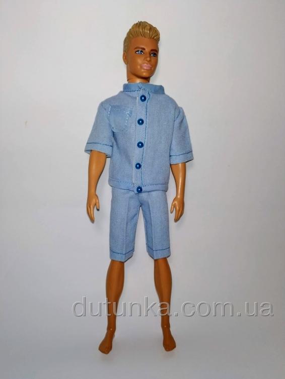 Літній комплект одягу з льону для Кена   Dutunka