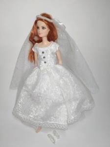 Плаття для ляльки Барбі Наречена   Dutunka
